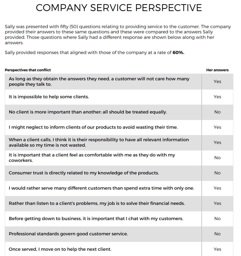 Customer Service Hiring assessment