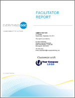 Everything DiSC® Facilitator Report lets you build customized group reports using data from any online DiSC Classic profile.