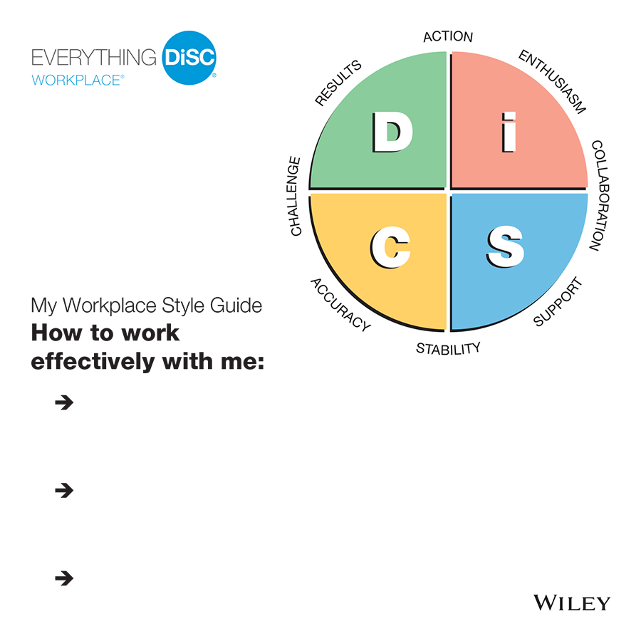 Everything DiSC Workplace Style guides is a great resource to leave with your learners after a DiSC Training or Workshop